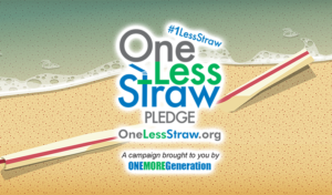 Plastic Straw on Beach pollution